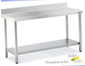 Mesa inoxidable 1200x600x850 con estante